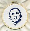 OBAMA cross-stitch portrait on Flickr.com