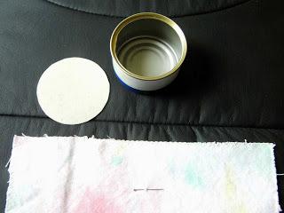 Materials for pincushion cross stitch.