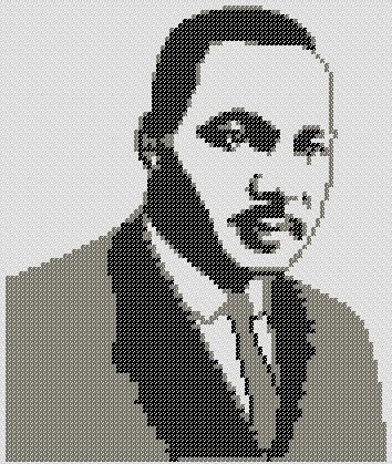 Preview of Cross Stitch Patterns: Martin Luther King, Jr. (silhouette)