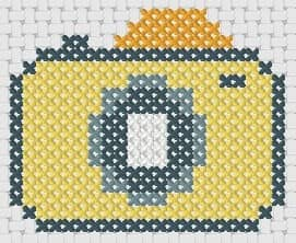 Preview of Small cross stitch pattern: Camera
