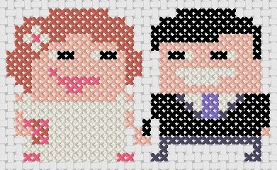 Preview of Wedding Cross Stitch little couple
