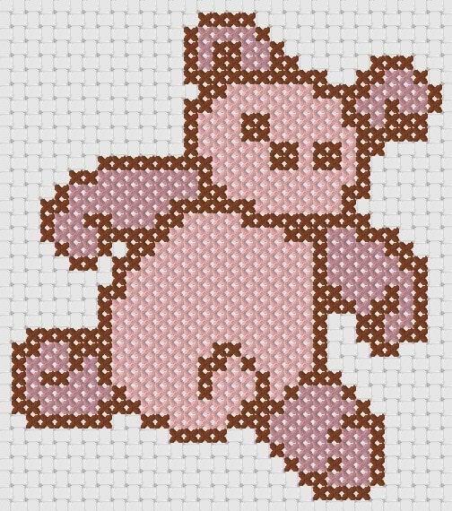 Preview of Cross Stitch Patterns: Teddy Bear Sampler