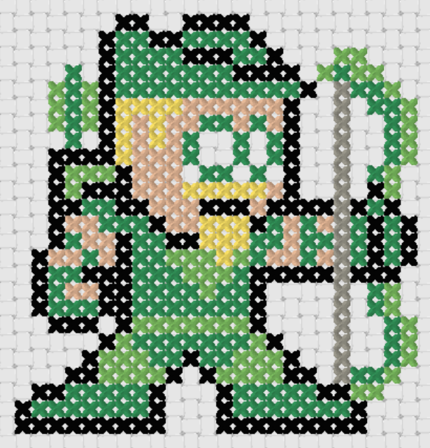 Preview of Free Justice League's Green Arrow cross stitch pattern (small)