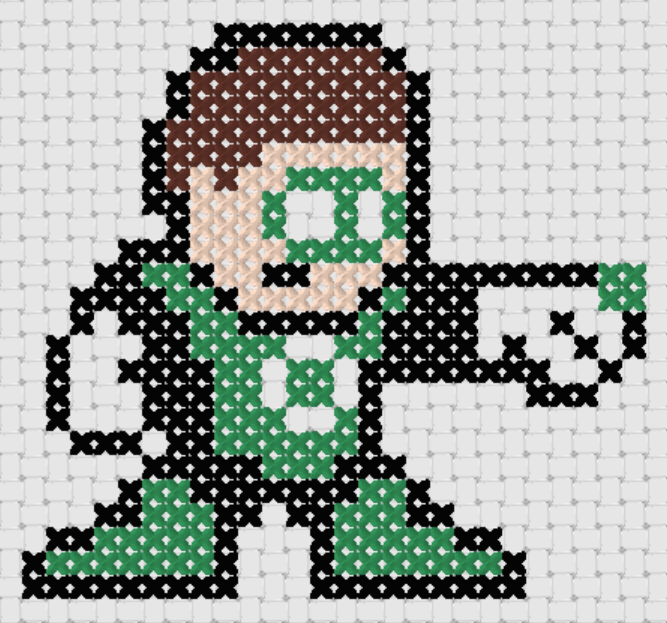 Preview of Free Justice League's Green Lantern cross stitch pattern (small)