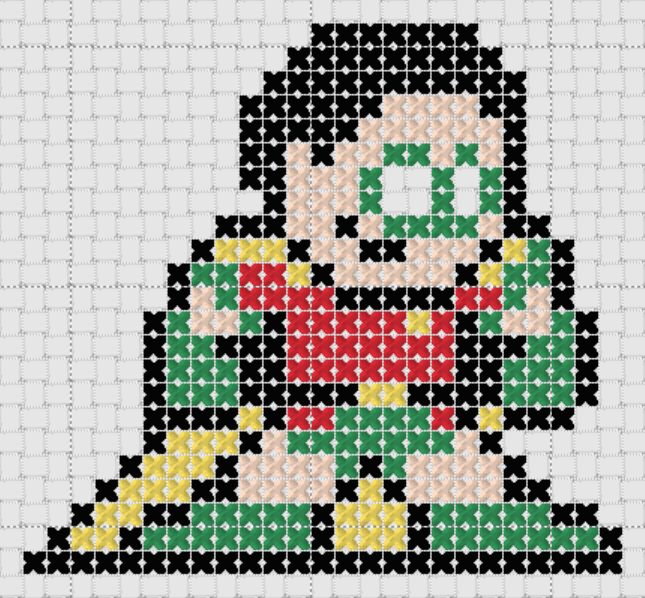 Preview of Free Justice League's Robin cross stitch pattern (small)