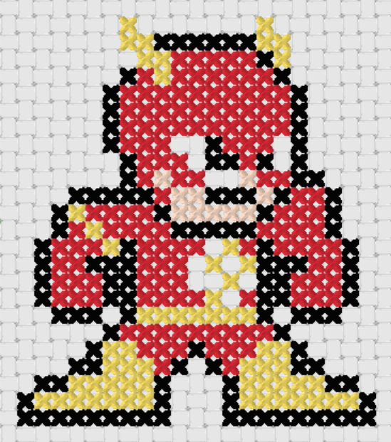 Preview of Free Justice League's The Flash cross stitch pattern (small)
